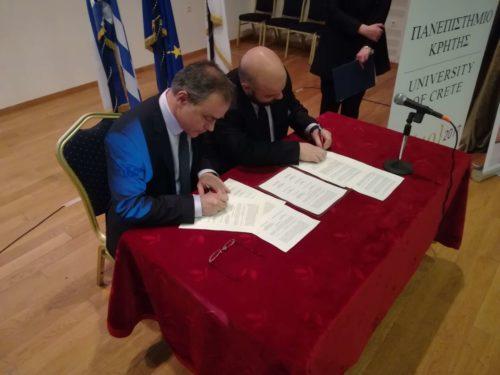 Μνημόνιο συνεργασίας υπέγραψαν τα Παιδικά Χωριά SOS και το Πανεπιστήμιο Κρήτης