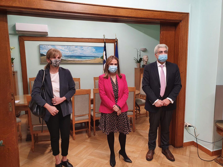 Συνάντηση με την Υφυπουργό Ψυχικής Υγείας για την καταπολέμηση των συνεπειών της πανδημίας